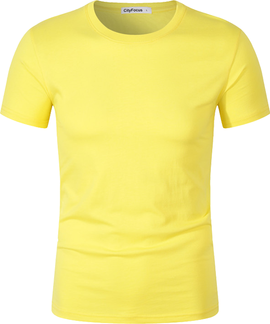 洗水棉圆领T恤