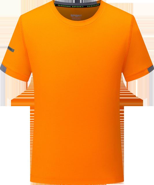 方格布圆领T恤